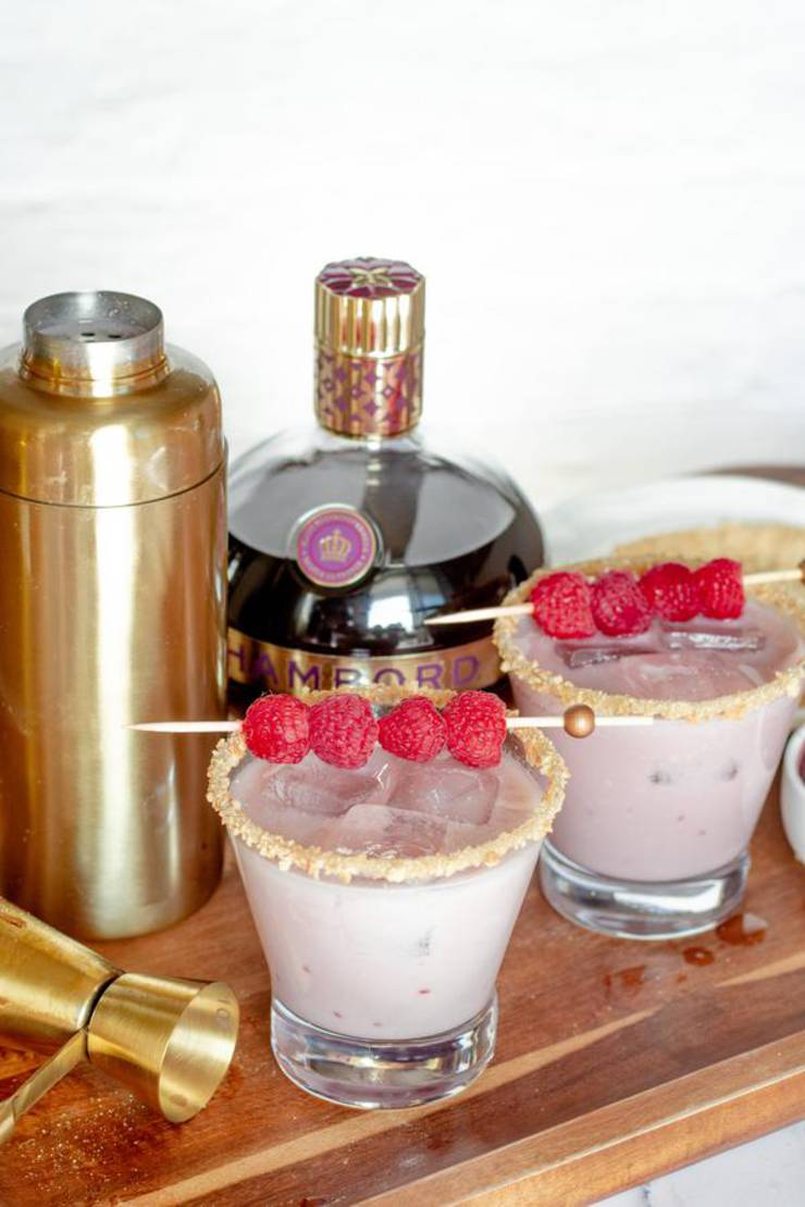 Alcoholic Drinks – BEST Raspberry White Chocolate Cookie Recipe – Easy and Simple On The Rocks Cocktail Alcohol Drinks