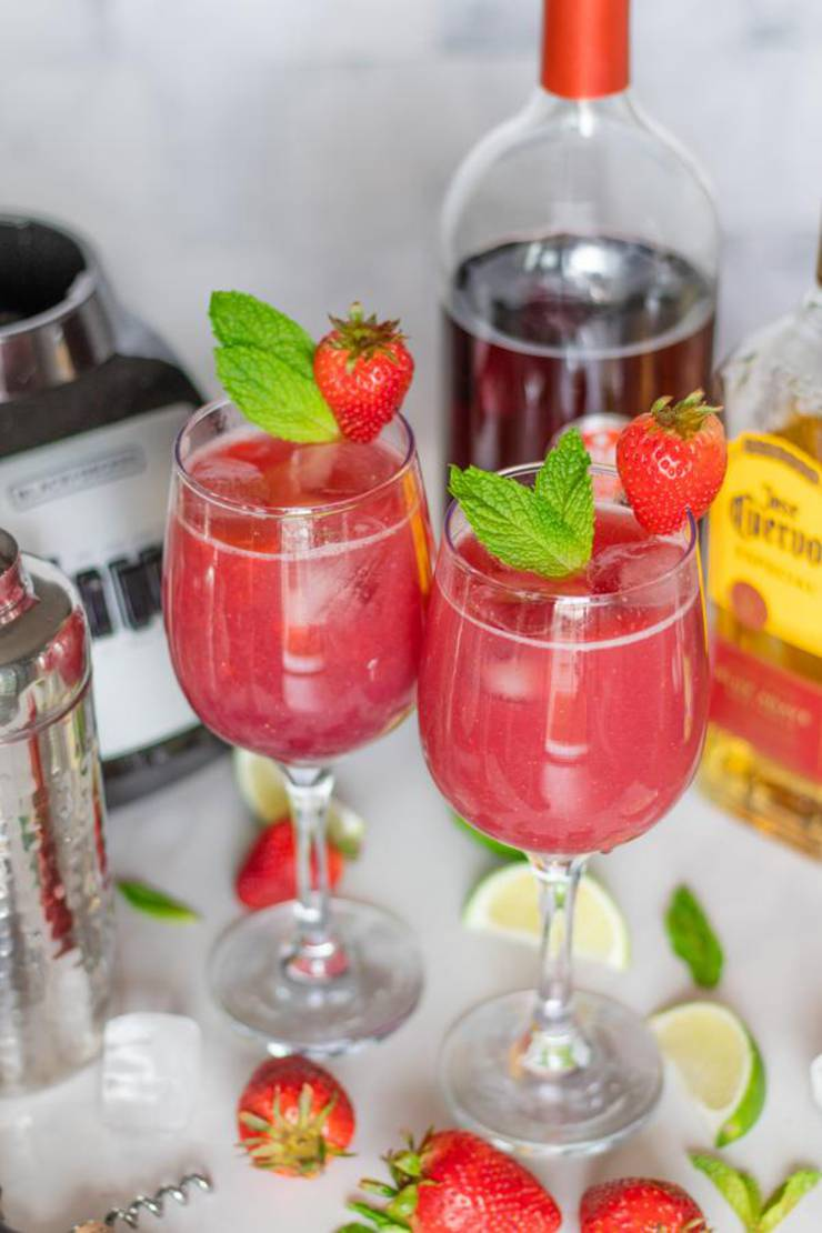 Alcoholic Drinks – BEST Red Wine Cocktail Recipe – Easy and Simple On The Rocks Strawberry Cocktail Alcohol Drinks