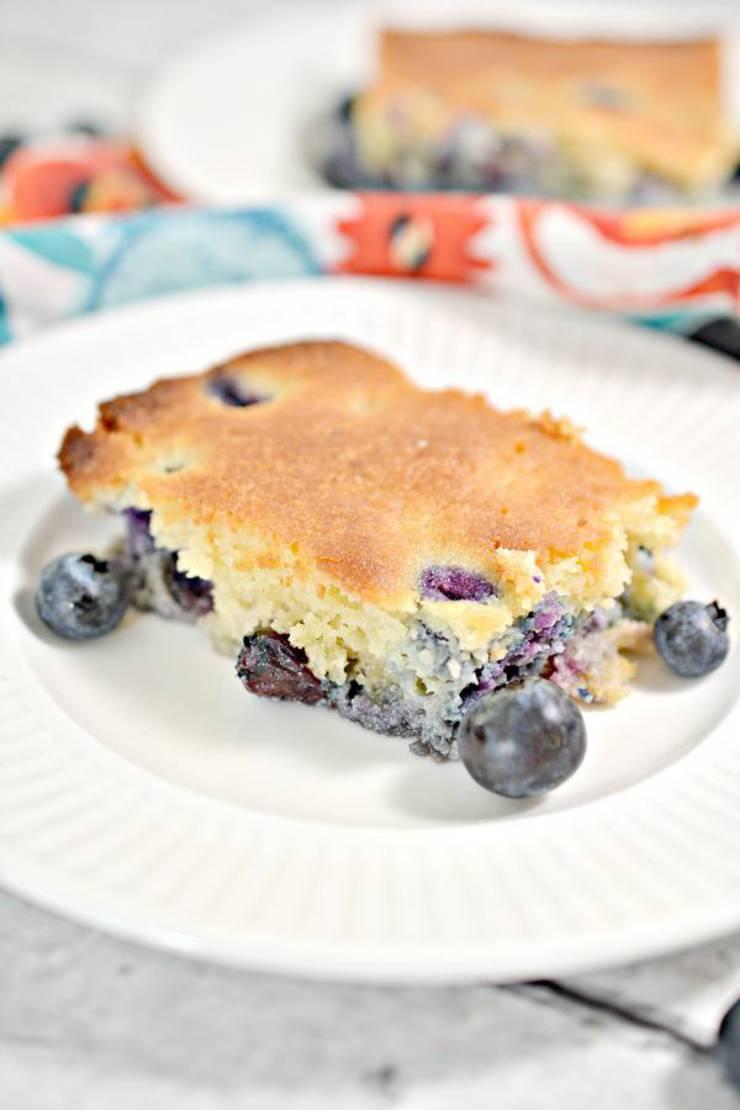 Keto Breakfast Cake – BEST Low Carb Keto Blueberry Breakfast Cake Recipe – Easy – Breakfast - Desserts – Snacks – Sweets – Keto Friendly & Beginner