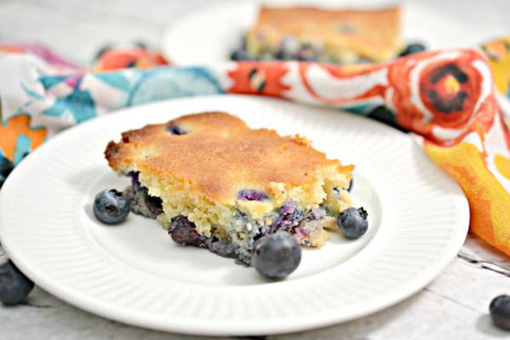 Keto Breakfast Cake – BEST Low Carb Keto Blueberry Breakfast Cake Recipe – Easy – Breakfast - Desserts – Snacks – Sweets – Keto Friendly & Beginner