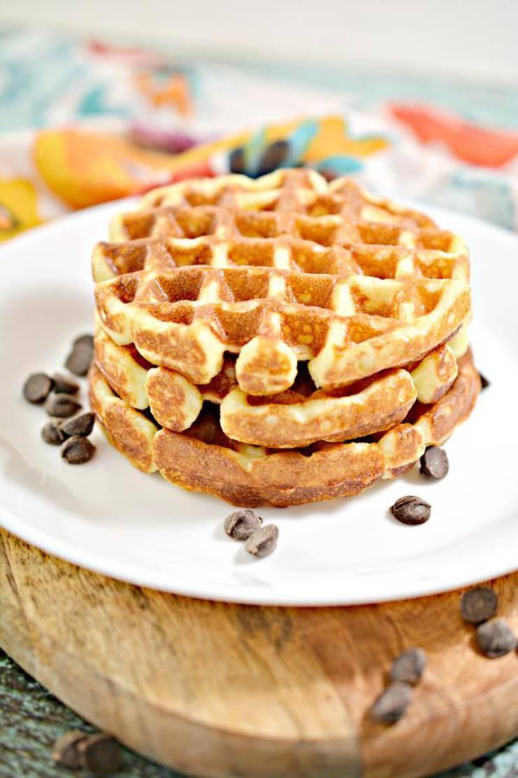 Keto Chaffle Chocolate Glaze Donut