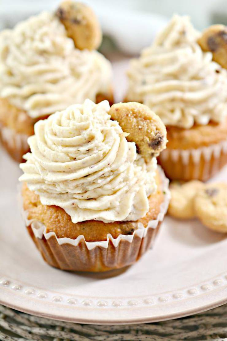 Keto Cupcakes – Super Yummy Low Carb Chocolate Chip Cookie Cupcakes Recipe – Chocolate Treats For Ketogenic Diet With Frosting - Desserts – Snacks