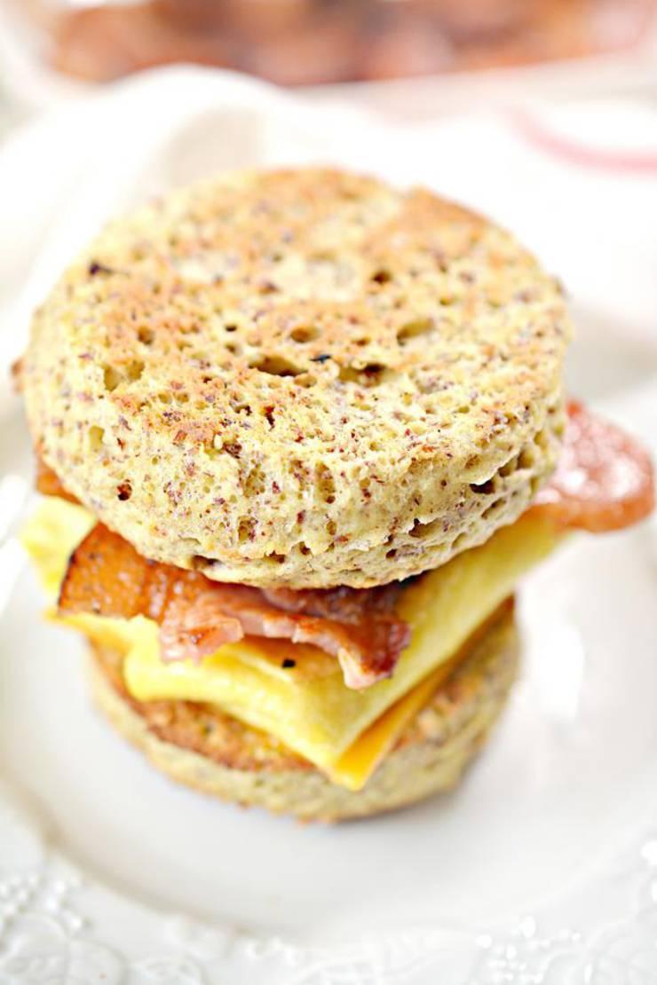 Keto Breakfast Sandwich! BEST Low Carb Keto 90 Second English Muffin Breakfast Sandwich Idea – Quick & Easy Ketogenic Diet Recipe – Beginner Keto Friendly – Breakfast - Lunch - Dinner