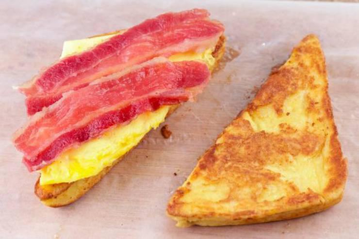 Keto French Toast Breakfast Sandwich