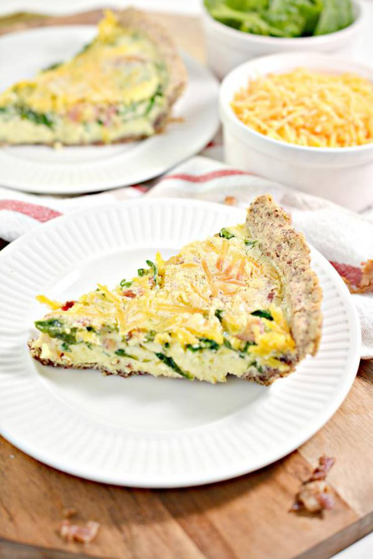 Keto Quiche! BEST Low Carb Keto Quiche Idea – Quick & Easy Ketogenic Diet Recipe – Beginner Keto Friendly – Spinach - Egg - Bacon - Breakfast - Lunch - Dinner
