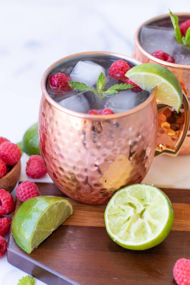 Alcoholic Drinks – BEST Ginger Beer Raspberry Margarita Recipe – Easy and Simple On The Rocks Alcohol Drinks
