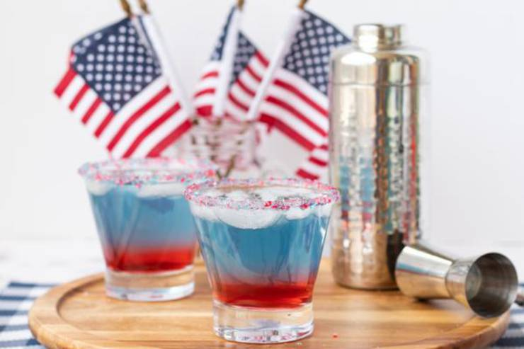 Alcoholic Drinks – BEST Vodka Red White And Blue Layered Cocktail Recipe – Easy and Simple Alcohol Drinks