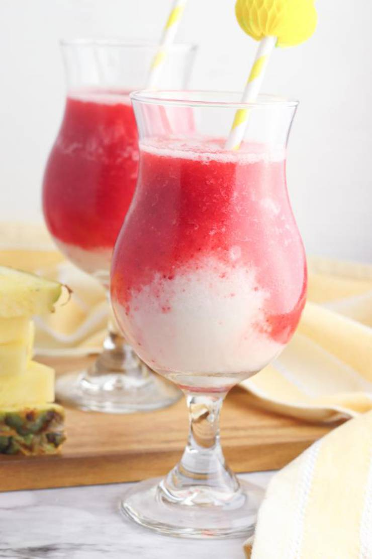 Alcoholic Drinks – BEST Rum Lava Flow Recipe – Easy and Simple Frozen Alcohol Drinks