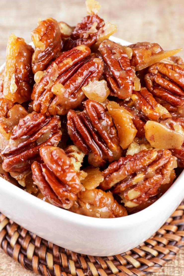BEST Keto Pecans! Low Carb Keto Buttery Toffee Coated Pecans Idea – 3 Ingredient Candied Sugar Free – Quick & Easy Ketogenic Diet Recipe – Completely Keto Friendly