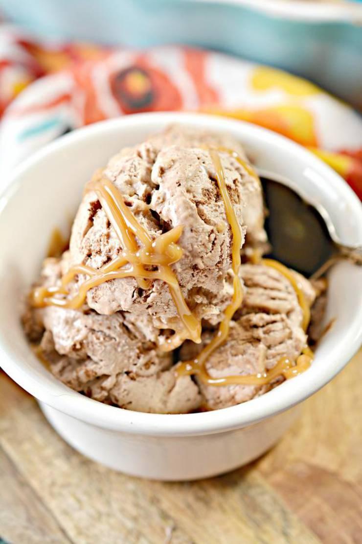 Keto Ice Cream! BEST Low Carb Keto Chocolate Caramel Ice Cream Idea – Quick & Easy Ketogenic Diet Recipe – No Churn Ice Cream - Snacks - Desserts