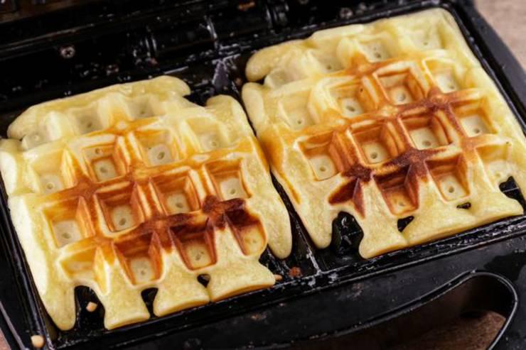 Keto Chocolate Glaze Donut Waffles