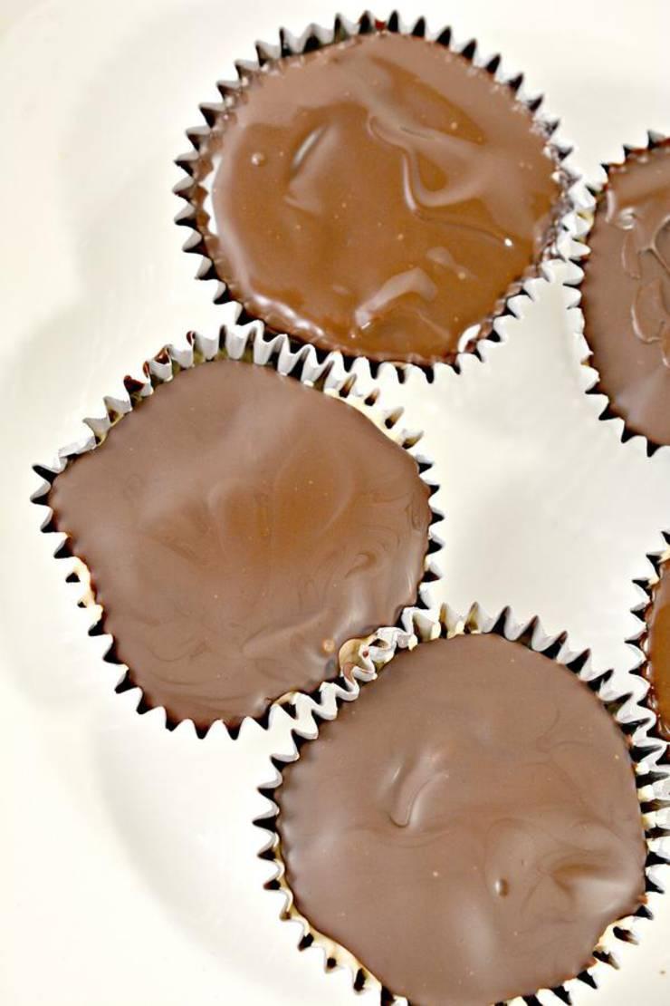 Keto Chocolate Peanut Butter Ice Cream Cups