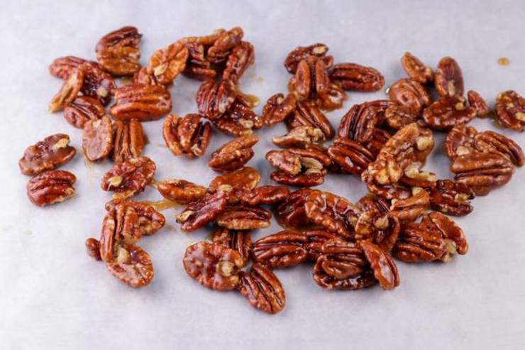 Keto Maple Brown Sugar Candied Pecans