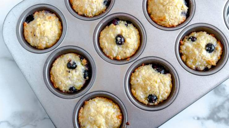 Keto Mini Blueberry Muffins