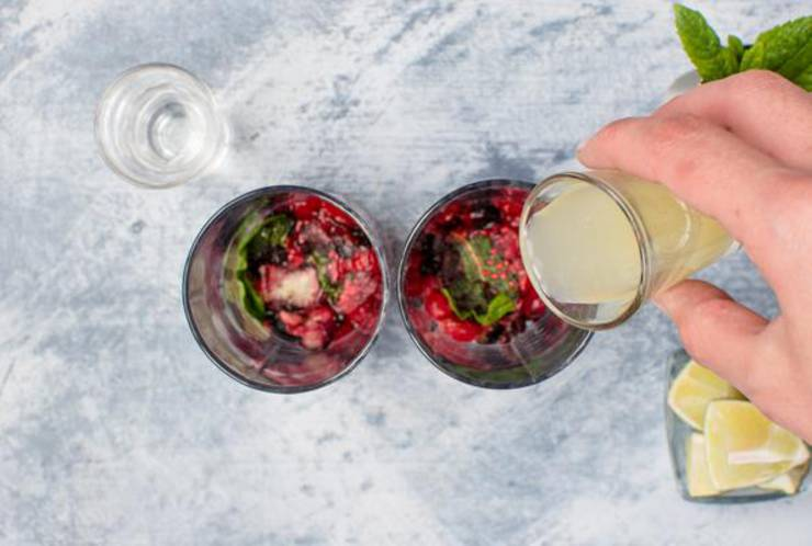 Keto Mixed Berries Vodka Cocktail