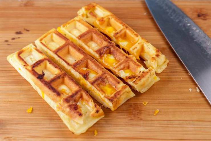 Keto Waffle Grilled Cheese Sticks