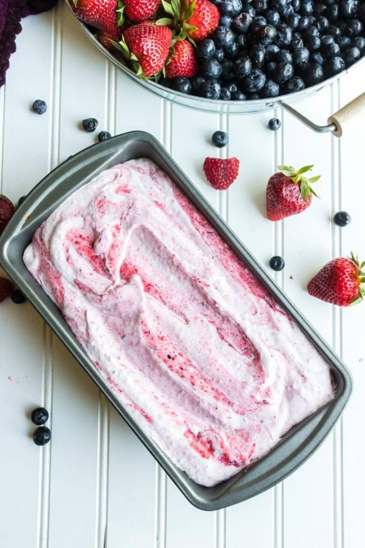 Triple Berry No Churn Ice Cream