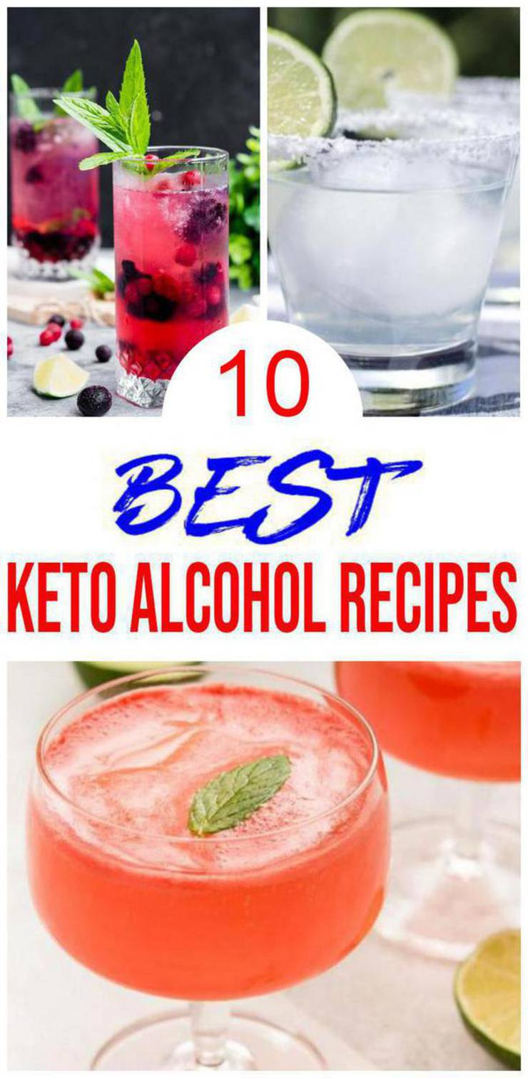 10 Keto Alcohol Recipes – BEST Keto Low Carb Cocktail Ideas – Easy Ketogenic Diet Ideas