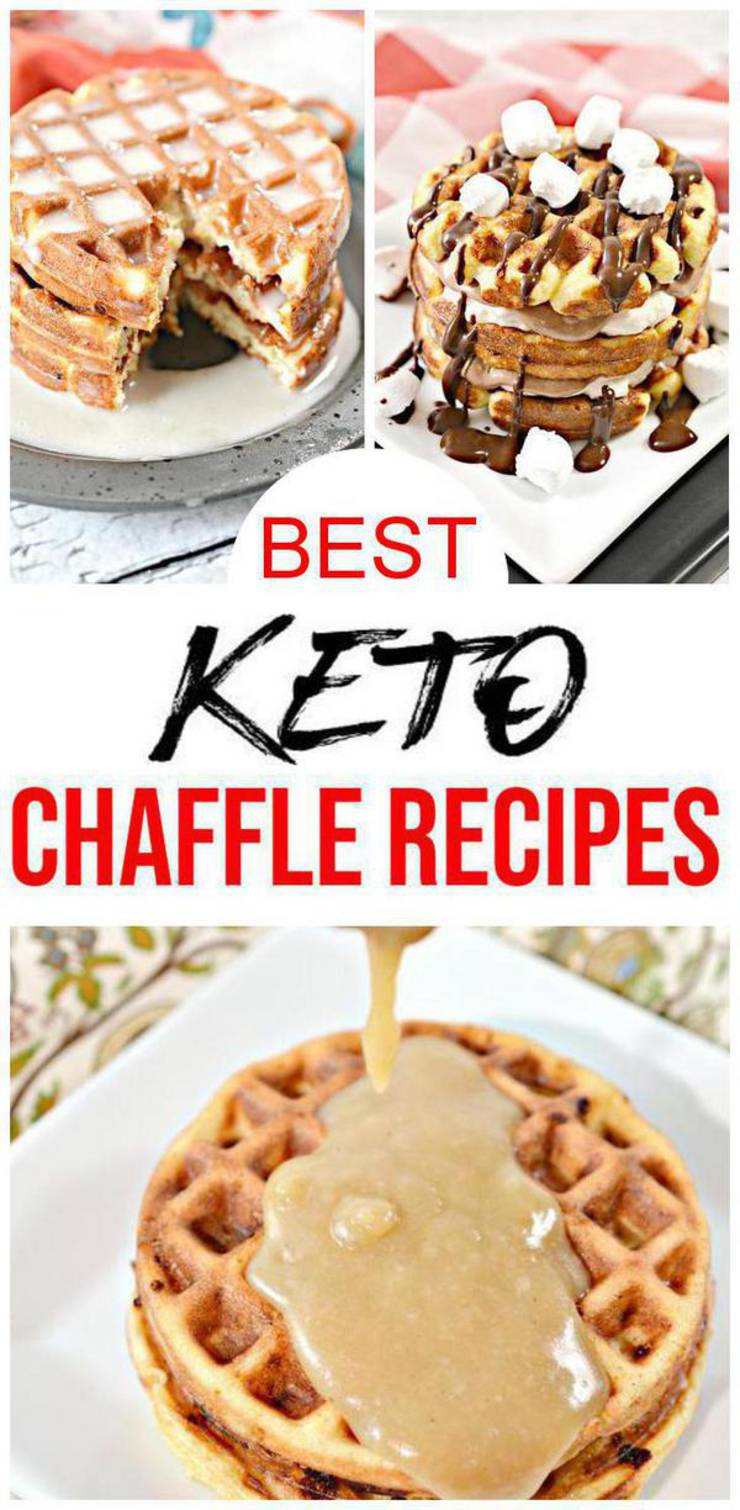 15 Keto Chaffle Recipes – BEST Low Carb Keto Chaffle Ideas – Easy Ketogenic Diet Snacks – Breakfast - Desserts – Lunch - Dinner - Snacks