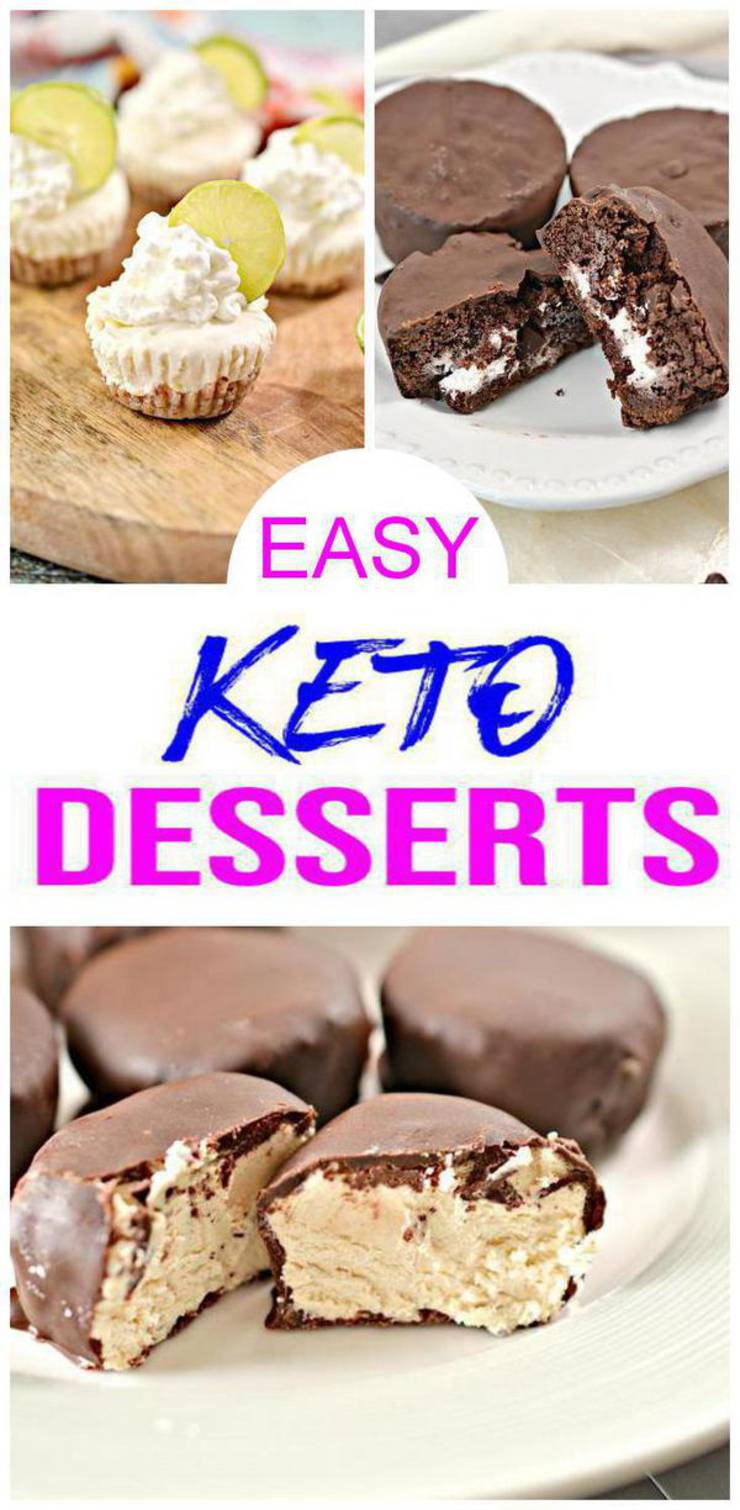 Easy Keto Desserts - BEST Low Carb Keto Dessert Recipes - 5 Keto Dessert Ideas - Sweet Tooth Weekly Menu For Ketogenic Diet