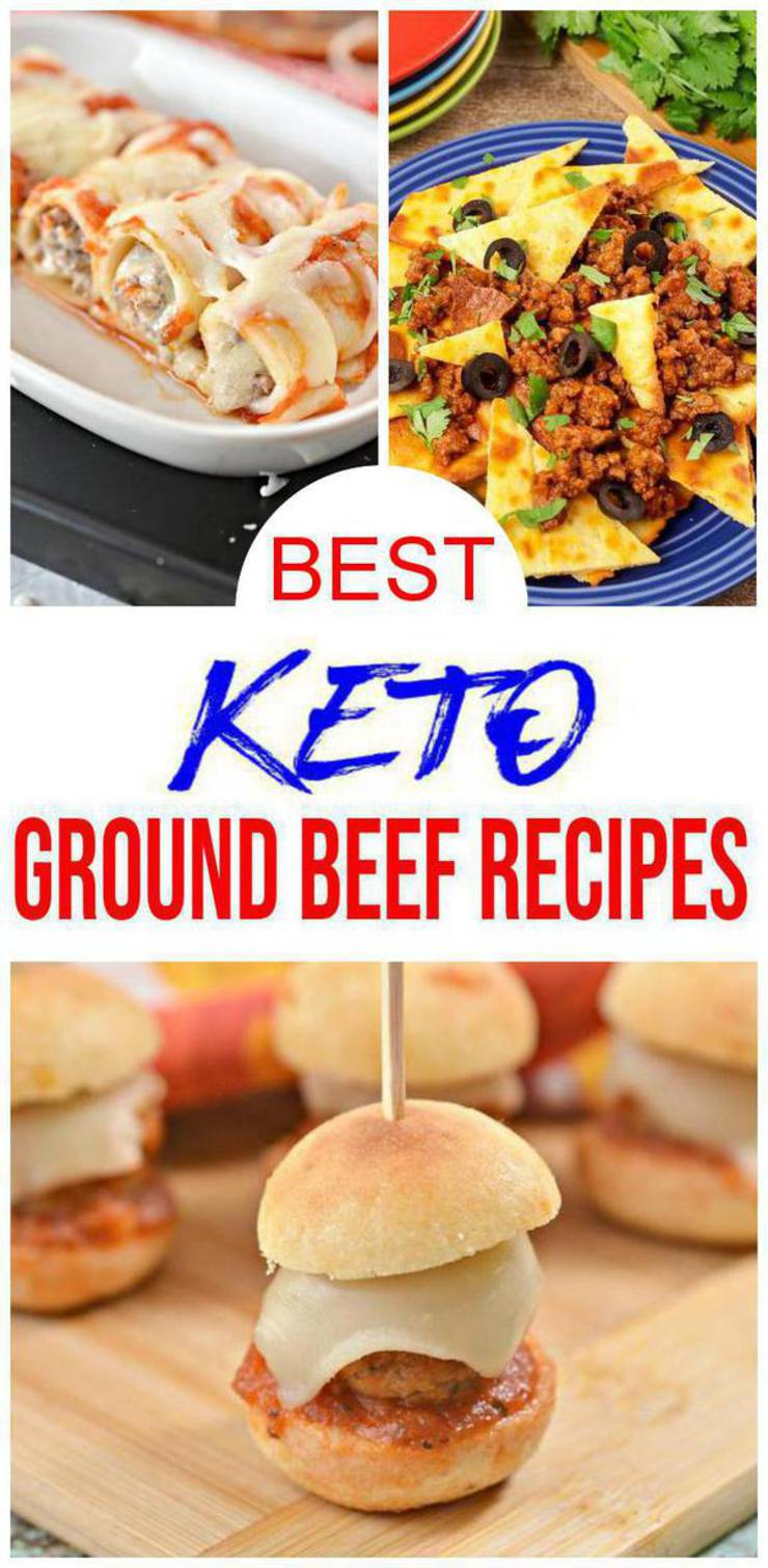 10 Keto Ground Beef Recipes - BEST Low Carb Keto Ground Beef Ideas – Easy Ketogenic Diet Meals - Dinner - Lunch - Appetizers