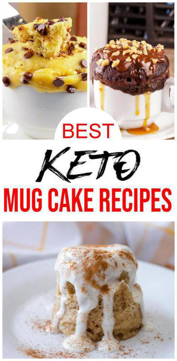 5 Keto Mug Cake Recipes Best Low Carb Keto Mug Cakes Ideas Easy Ketogenic Diet Snacks Breakfast Desserts Snacks