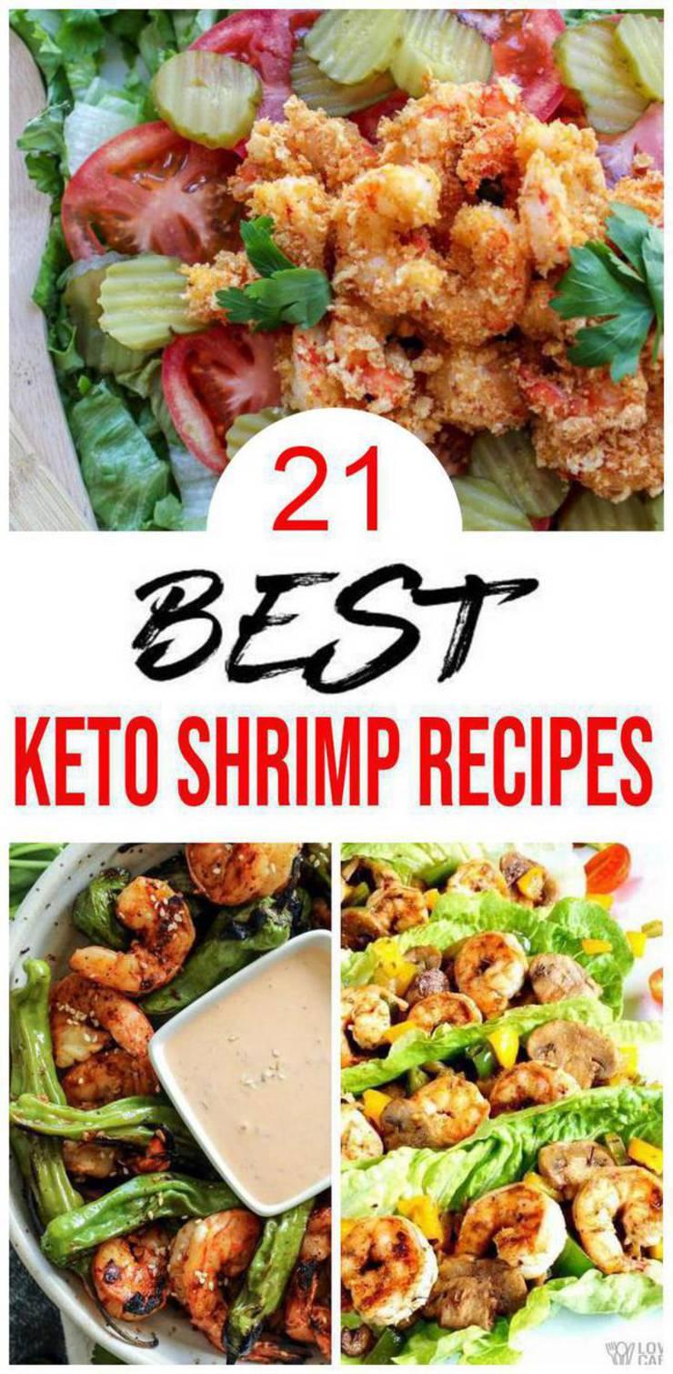 21 Keto Shrimp Recipes – BEST Low Carb Keto Shrimp Ideas – Easy Ketogenic Diet Lunch – Dinner – Side Dishes