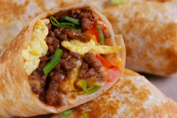 Breakfast Burrito Wraps – Breakfast Burrito Roll Ups – Chorizo - Eggs - Cheese - Breakfast Wraps - Breakfast - Lunch - Dinner
