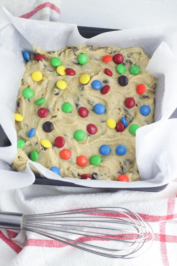 Chocolate Chip M And M Cookie Bars