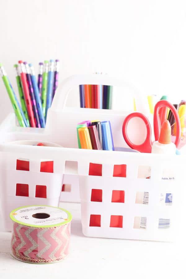 Diy Dollar Tree Homework Station_Homeschool Organization