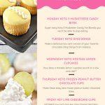 Easy Keto Desserts - BEST Low Carb Keto Dessert Recipes - 5 Keto Dessert Ideas - Sweet Tooth Weekly Menu For Ketogenic Diet