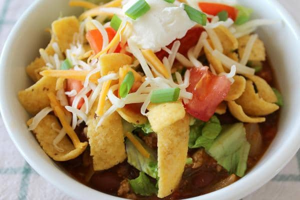 Frito Taco Salad – EASY Ground Beef Recipes – BEST Mexican Dinners – Crock Pot - Slow Cooker Recipe – Homemade Dinner – Lunch – Side Dishes