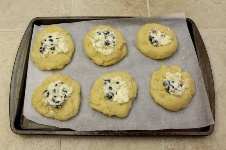Keto Blueberry Cream Cheese Danish
