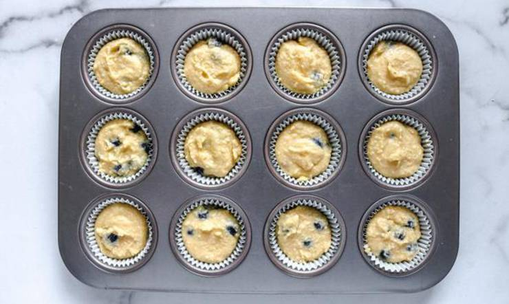 Keto Blueberry Lemon Muffins