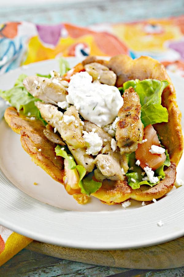 Keto Low Carb Chicken Gyros Wraps – Ketogenic Diet Recipe Roll Ups – Appetizers – Side Dish – Lunch – Dinner – Keto Friendly & Beginner - Low Carb High Protein Meals
