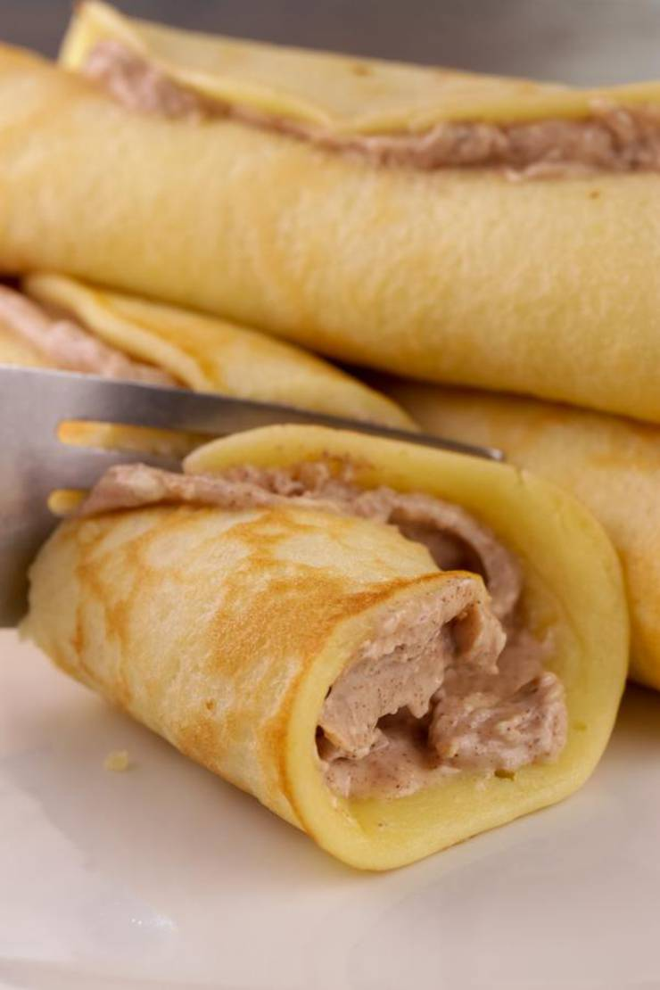 BEST Keto Cinnamon Cream Cheese Pancake Roll Ups – Low Carb Keto Pancake Cinnamon Cream Cheese Recipe – Quick and Easy Ketogenic Diet Idea