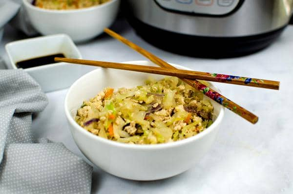 EASY Keto Egg Roll In Bowls! Low Carb Egg Roll In A Bowl Recipe – Quick – Healthy – Instant Pot Idea - BEST Ketogenic Diet Dinner – Lunch