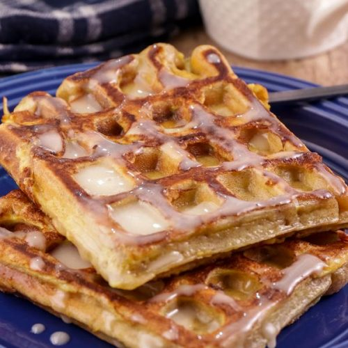 Keto French Toast Cinnamon Roll Waffles