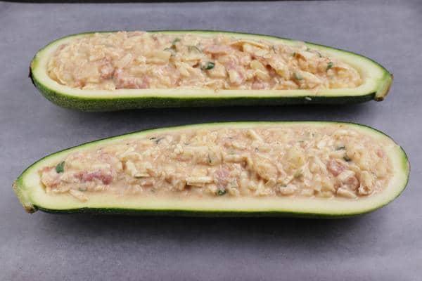 Keto Jalapeno Popper Zucchini Boats