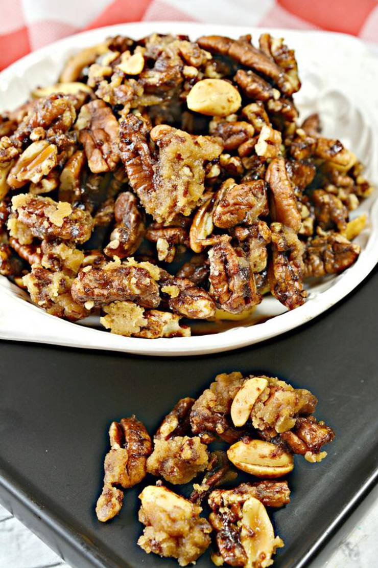 BEST Keto Pecans! Low Carb Keto Caramel Coated Pecans Idea – Candied Cracker Jacks - Sugar Free – Quick & Easy Ketogenic Diet Recipe – Completely Keto Friendly