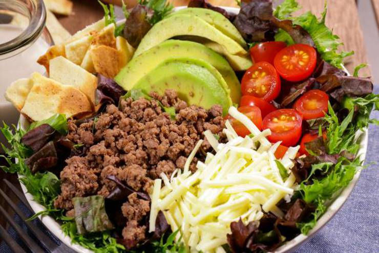 BEST Keto Taco Salad! Low Carb Chips & Taco Salad Idea – Quick & Easy Ketogenic Diet Recipe – Keto Friendly & Beginner - Dinner - Lunch