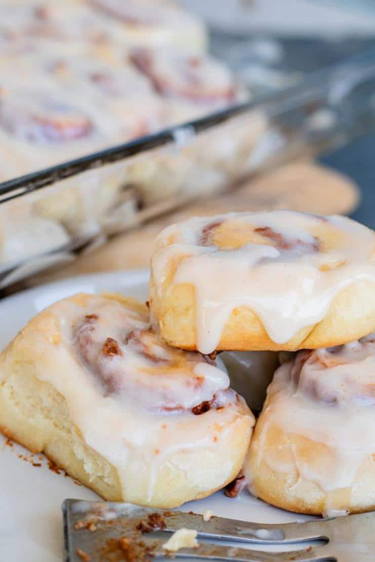 Cinnamon Rolls – BEST Cake Mix Cinnamon Rolls Recipe – Homemade Easy and Simple Doctored Cake Mix – Breakfast - Snacks – Desserts