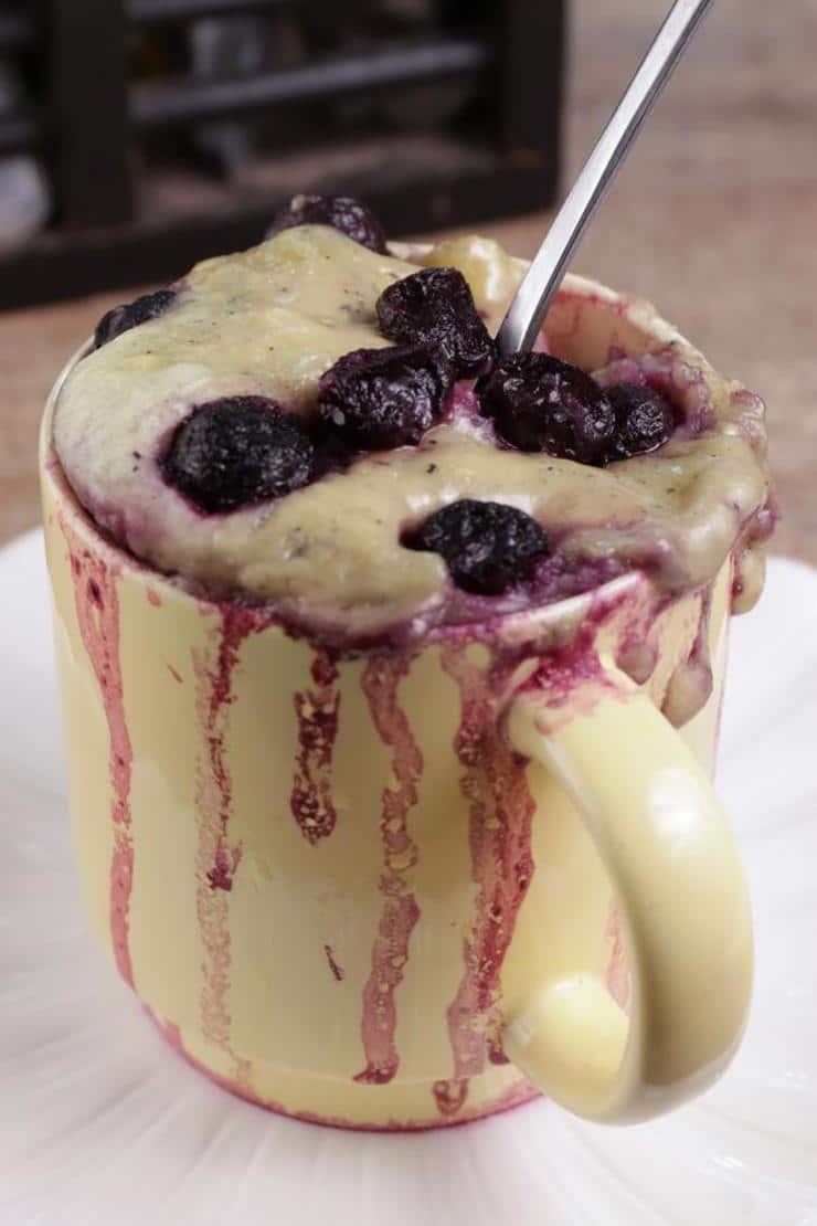BEST Keto Mug Cakes! Low Carb Microwave Blueberry Muffin In A Mug Idea – Quick & Easy Ketogenic Diet Recipe – Completely Keto Friendly Baking – Gluten Free