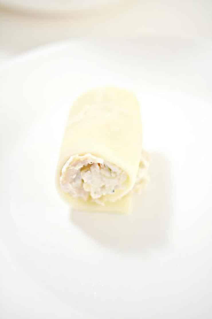 Keto Chicken Alfredo Lasagna Roll Ups