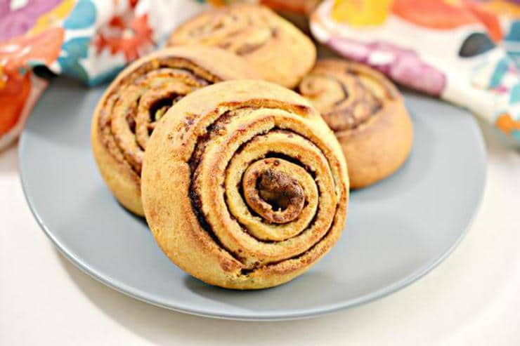 Keto Cinnamon Rolls - Super Yummy Low Carb Copycat Starbucks Morning Buns Recipe For Ketogenic Diet - Gluten Free