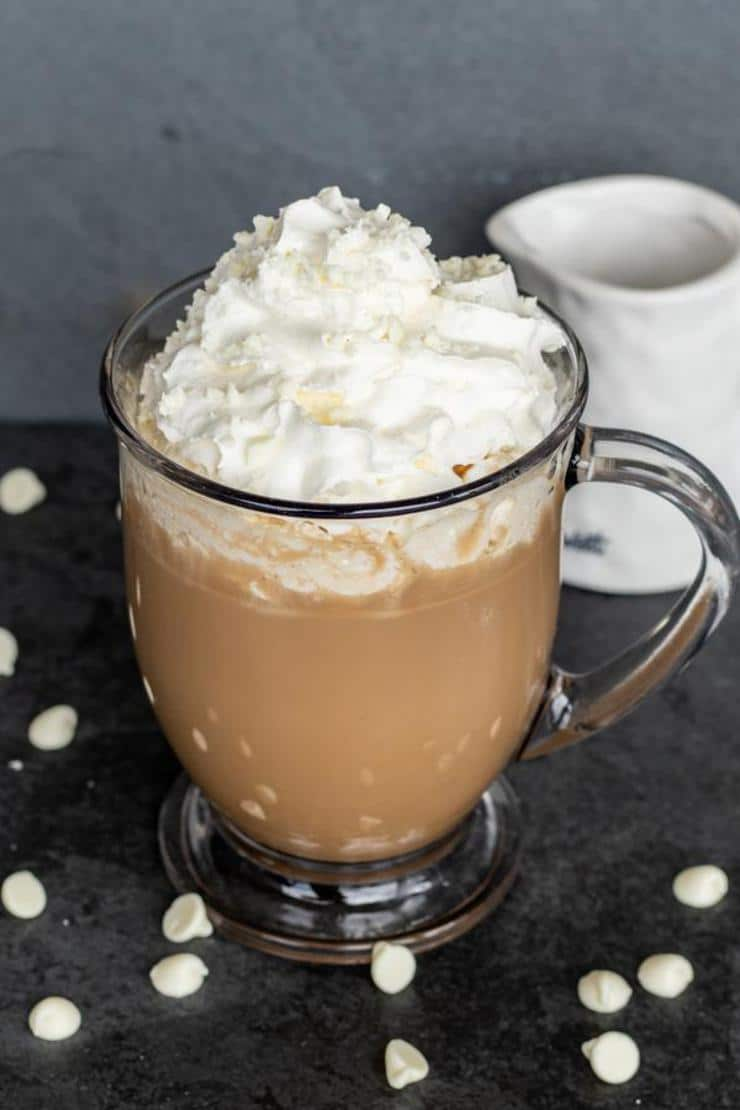 Keto Coffee! Low Carb White Chocolate Mocha Coffee Idea – Quick & Easy Ketogenic Diet Recipe – Keto Friendly – How To Make Copycat Starbucks Coffee