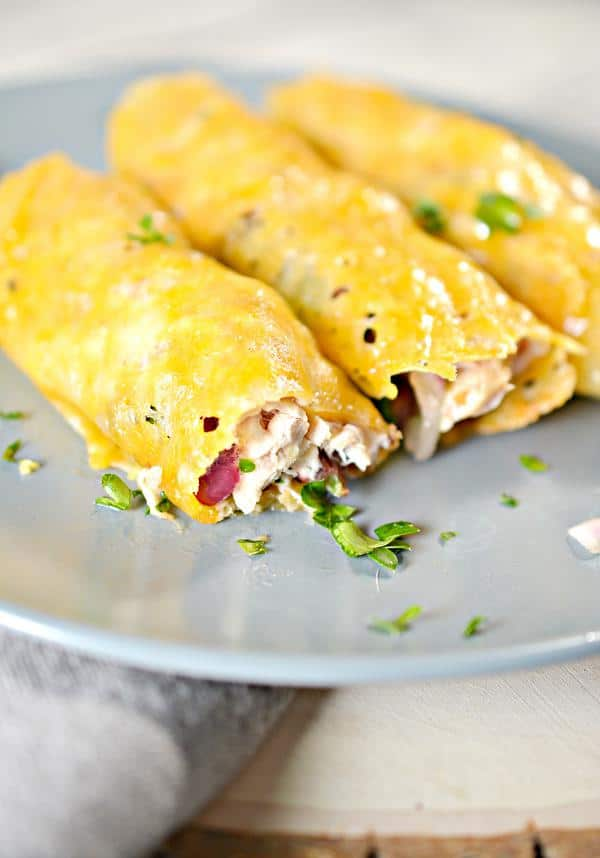 Keto Low Carb Cowboy Chicken Quesadilla Wraps – Ketogenic Diet Recipe Cheese Roll Ups – Appetizers – Side Dish – Lunch – Dinner – Completely Keto Friendly & Beginner
