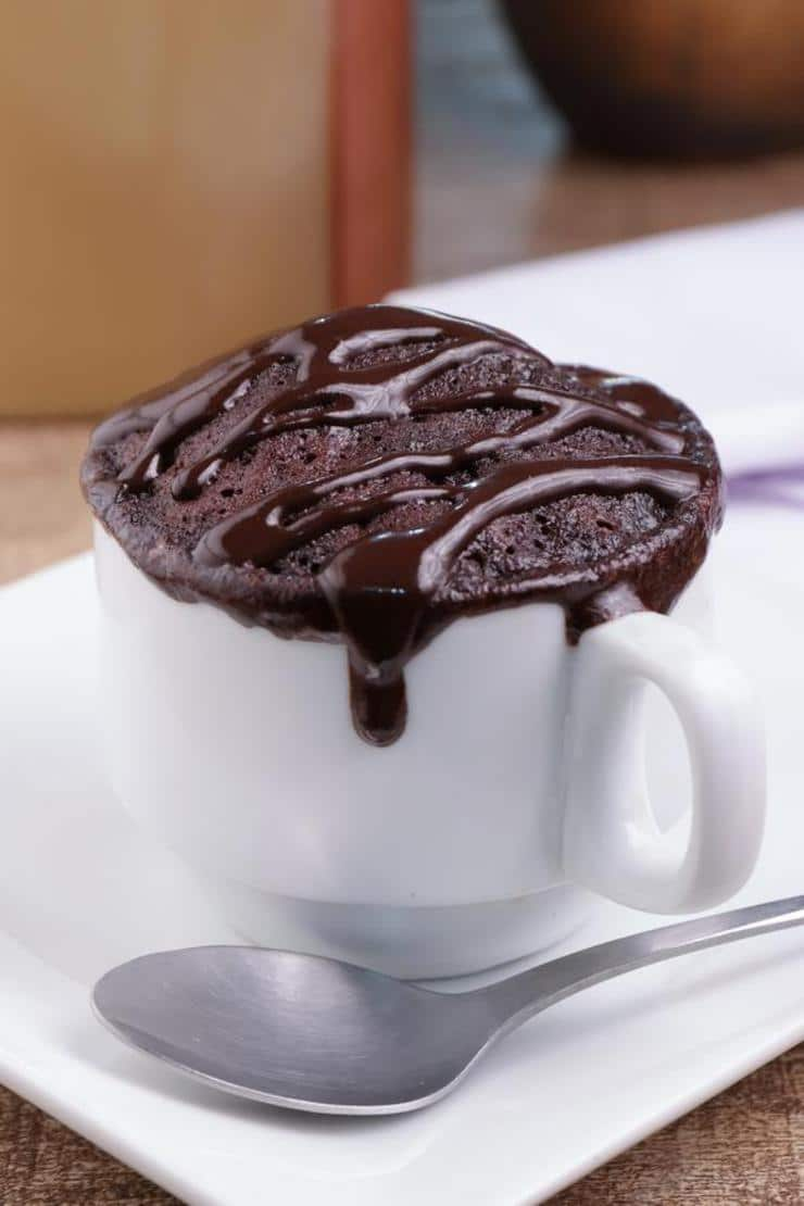 Best Keto Mug Cakes Low Carb Microwave Chocolate Hot Fudge Brownie Idea Quick Easy Ketogenic Diet Recipe Completely Keto Friendly Baking Gluten Free