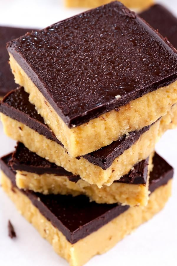 4 Ingredient Keto Peanut Butter Chocolate Bars – Best NO BAKE Low Carb Recipe – Desserts – Treats – Snacks - Ketogenic Diet