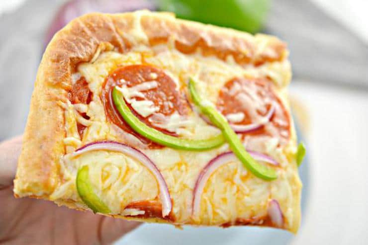 Keto Pizza! Low Carb Sheet Pan Pizza – Ketogenic Diet Recipe – Appetizers – Side Dish – Lunch – Dinner – Completely Keto Friendly & Beginner - Gluten Free